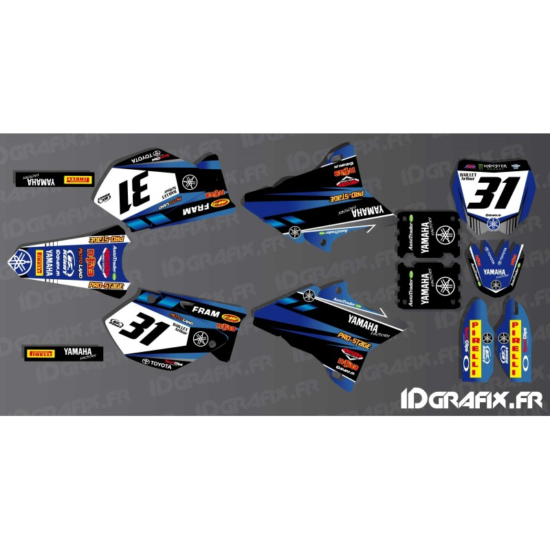 kit decoration custom yamaha yz mr baillet idgrafix