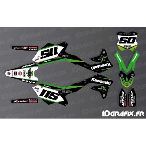 photo du kit décoration - Kit déco 100 % Personnalisé Monster pour Kawasaki KX/KXF