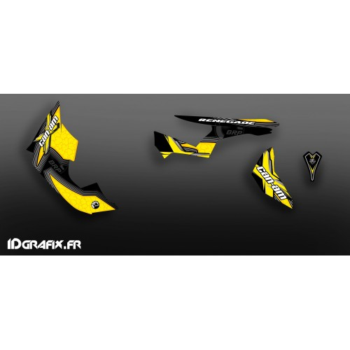 Kit décoration Desert Séries Medium (Jaune)- IDgrafix - Can Am Renegade 800