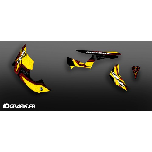 Kit décoration Desert Séries Medium (Jaune/Rouge)- IDgrafix - Can Am Renegade