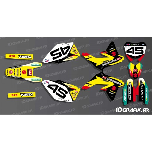 photo du kit décoration - Kit déco US AMA Yoshimura series pour Suzuki RM/RMZ