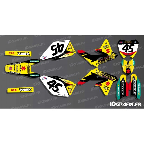 photo du kit décoration - Kit déco US AMA Rockstar series pour Suzuki RM/RMZ