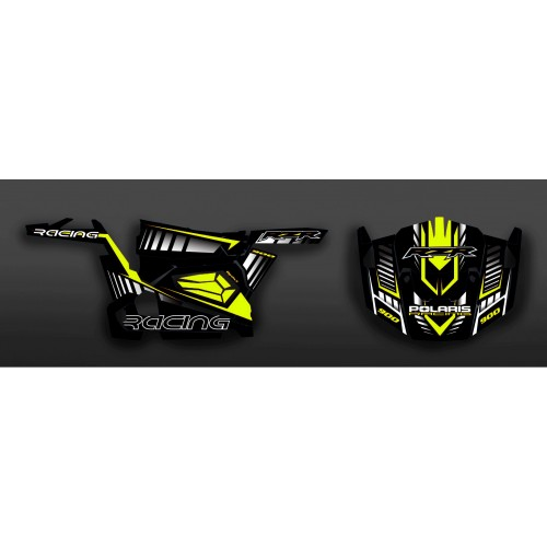 photo du kit décoration - Kit décoration Race Edition (Jaune) - IDgrafix - Polaris RZR 900