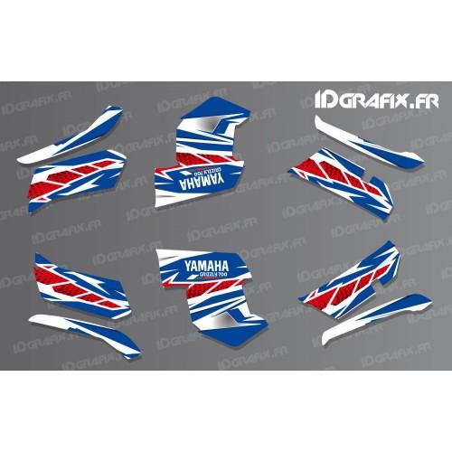 foto do kit, Kit de decoração decoração de Corrida da Yamaha (azul)- IDgrafix - Yamaha Grizzly 550-700