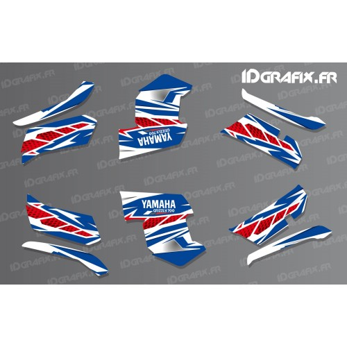 foto-kit deko - Kit dekor Race Yamaha (blau)- IDgrafix - Yamaha Grizzly 550-700