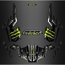 Kit décoration 100% Perso Monster Carbon - IDgrafix - Polaris RZR 1000 TURBO