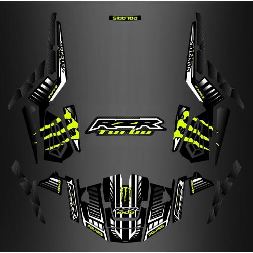 foto del kit, Kit de decoración decoración 100% Personalizado Monstruo de Carbono - IDgrafix - Polaris RZR 1000 TURBO