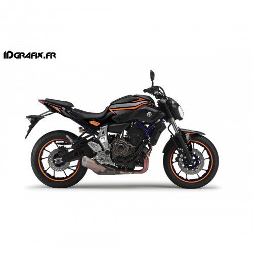 Kit décoration Racing Orange - IDgrafix - Yamaha MT-07