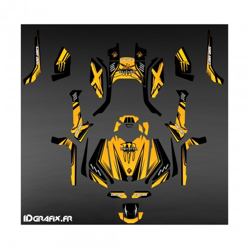 photo du kit décoration - Kit décoration Monster Edition (Jaune) - IDgrafix - Can Am Outlander