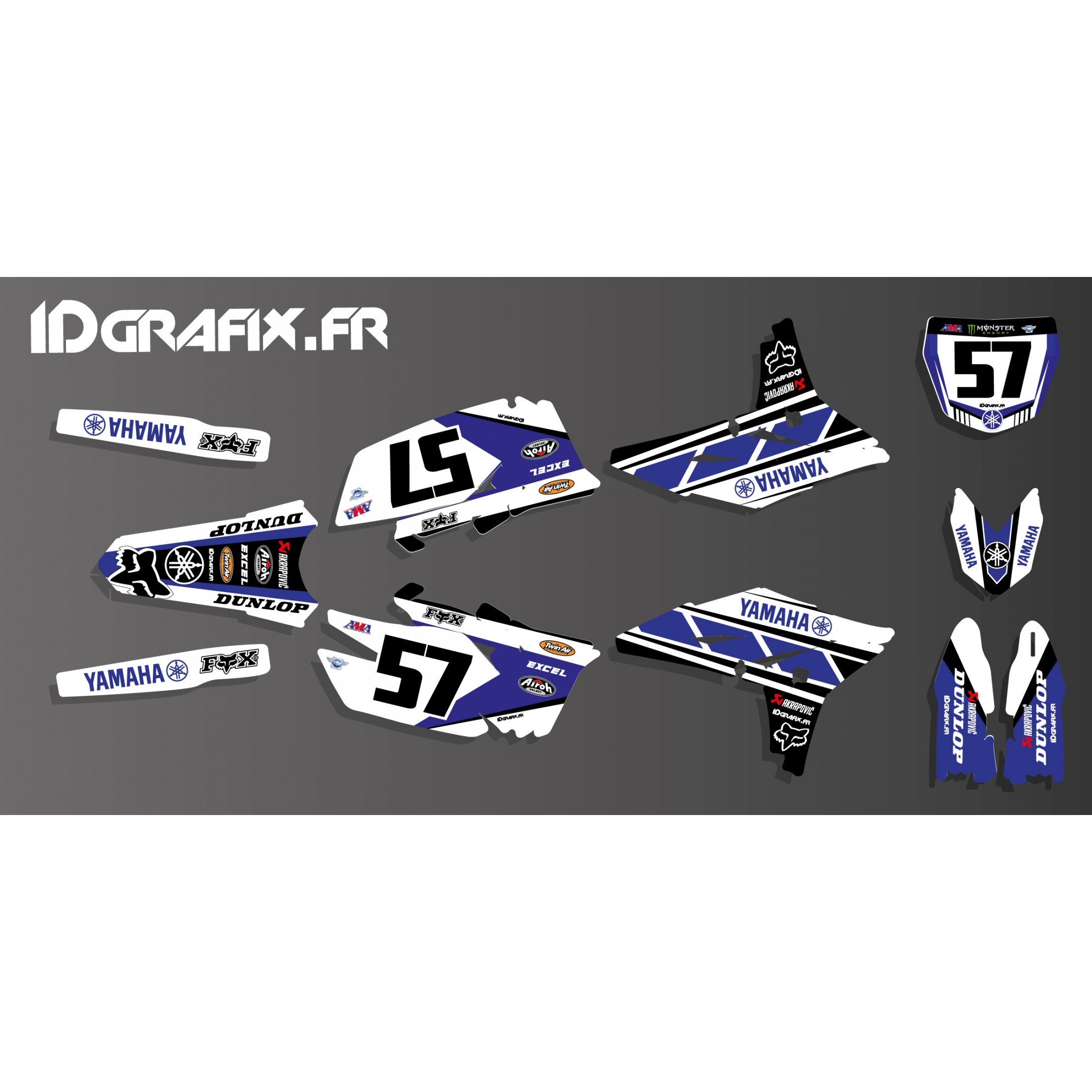 Kit d coration yamaha 60eme r plica edition yamaha yz for Decoration yamaha