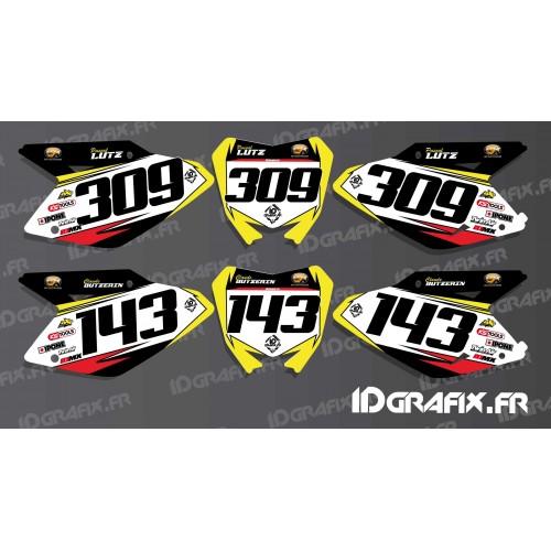 photo du kit décoration - Kit déco Plaque numéro pour Suzuki RM/RMZ