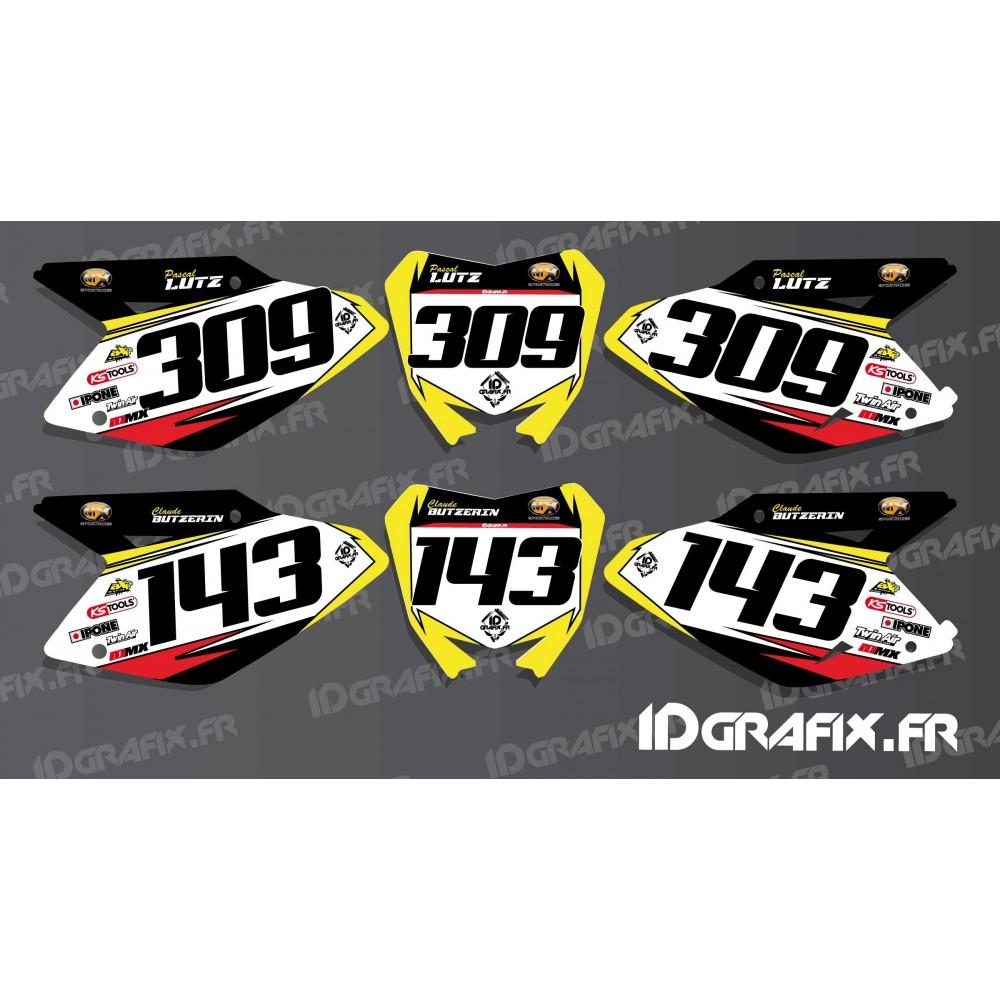 kit deco number plate for suzuki rm rmz idgrafix