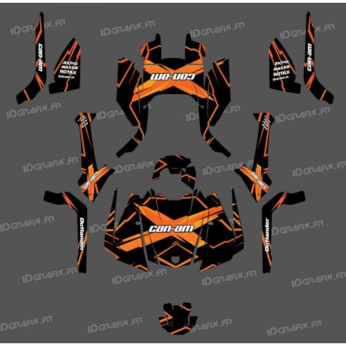 photo du kit décoration - Kit décoration Feature Edition (Orange) - IDgrafix - Can Am Outlander