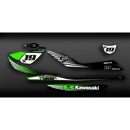 photo du kit décoration - Kit décoration 100% Perso Monster Light pour Kawasaki Ultra