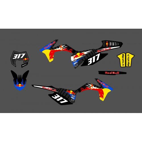 photo du kit décoration - Kit déco 100 % Personnalisé pour KTM EXC 2013