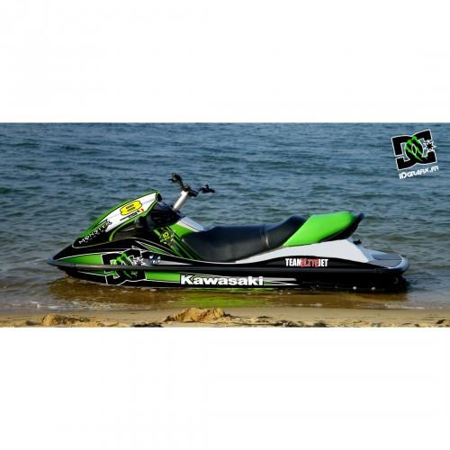 Kit decorazione 100% Personalizzato M Verde (Medio) per Kawasaki STX 15F -idgrafix