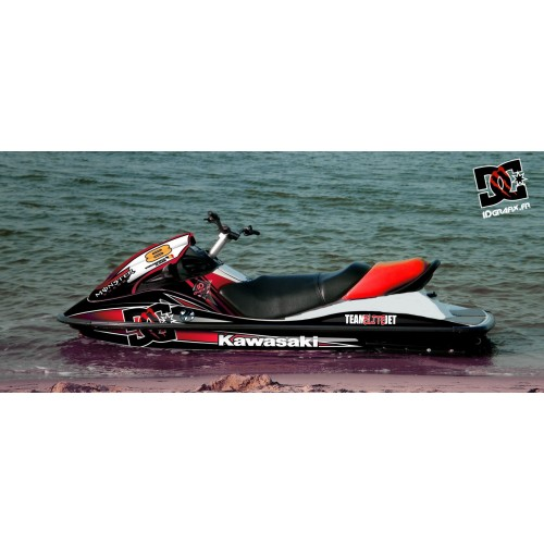 photo du kit décoration - Kit décoration 100% Perso M Red (Medium) pour Kawasaki STX 15F