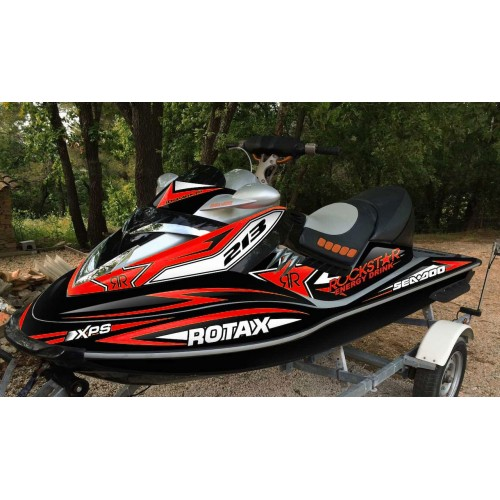 Kit decoration Rockstar energy, Red for Seadoo RXT 215-255