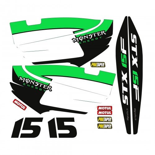 Kit de decoració Part per a Kawasaki STX 15F Verd -idgrafix