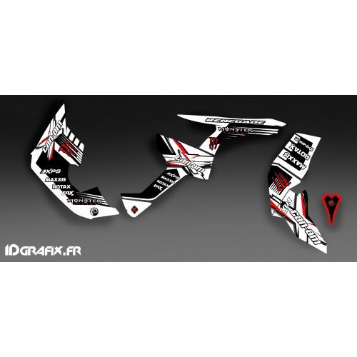 Kit de decoración 100% Personalizado Monstruo Completo (Blanco/Rojo)- IDgrafix - Can Am Renegade -idgrafix