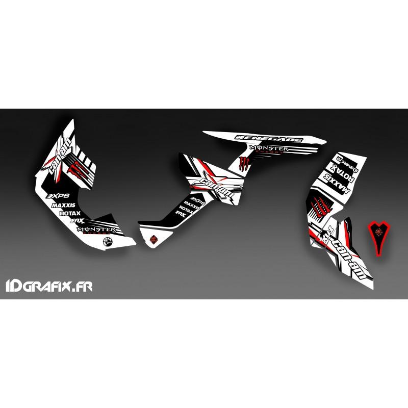 Kit de decoració 100% Personalitzat Monstre Ple (Blanc/Vermell)- IDgrafix - Am Renegade -idgrafix