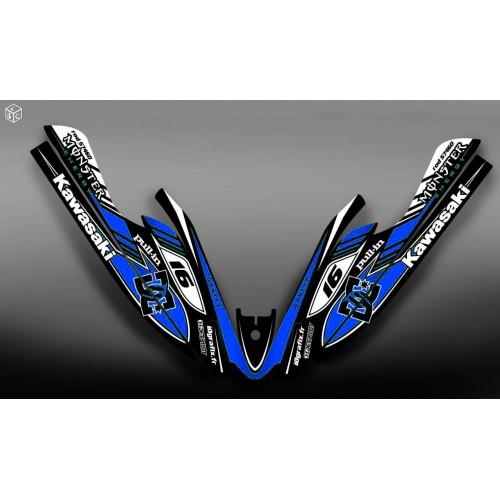 Kit de decoración 100% Personalizado DC Azul para Kawasaki 800 SXR -idgrafix