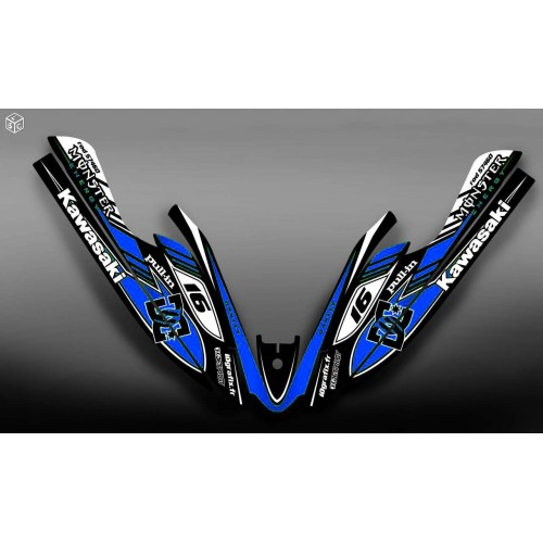 Kit dekor 100% Eigene DC Blue für Kawasaki SXR 800 -idgrafix