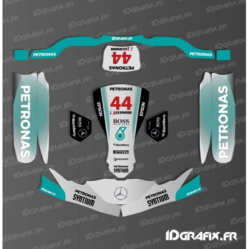 Kit déco F1-series Mercedes pour Karting SodiKart (PC + Réservoir)-idgrafix