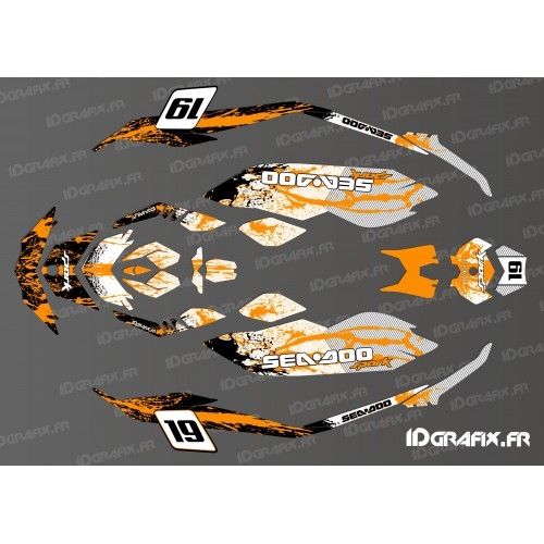 Kit dekor Full Spark Splash Orange für Seadoo Spark -idgrafix
