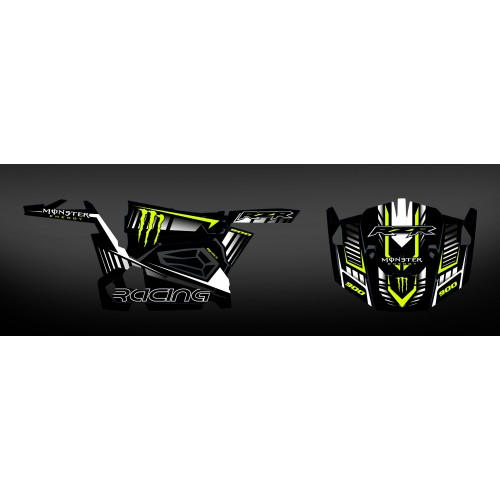 foto del kit, Kit de decoración decoración 100% personalizado Monstruo de Carbono - IDgrafix - Polaris RZR 900