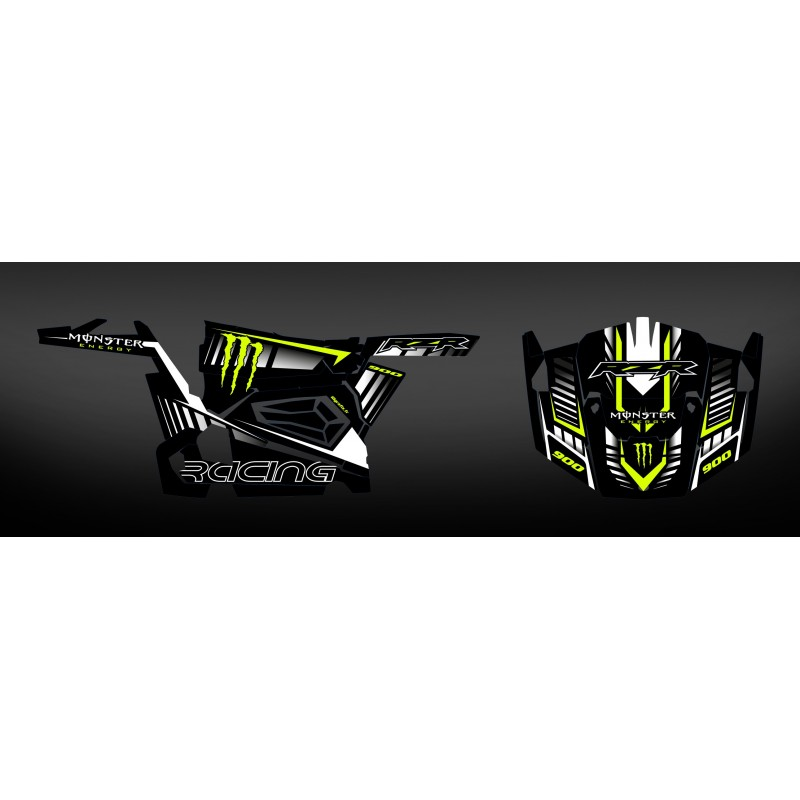 Kit décoration 100% perso Monster Carbon - IDgrafix - Polaris RZR 900-idgrafix