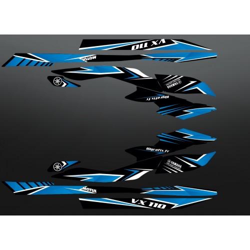 Kit décoration Factory Edition Bleu pour Yamaha VX 110 (2009-2014)-idgrafix