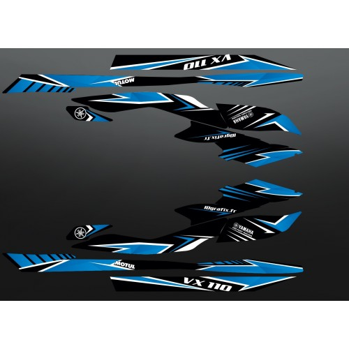 Kit decorazione Edizione di Fabbrica di colore Blu per Yamaha VX 110 (2009-2014) -idgrafix