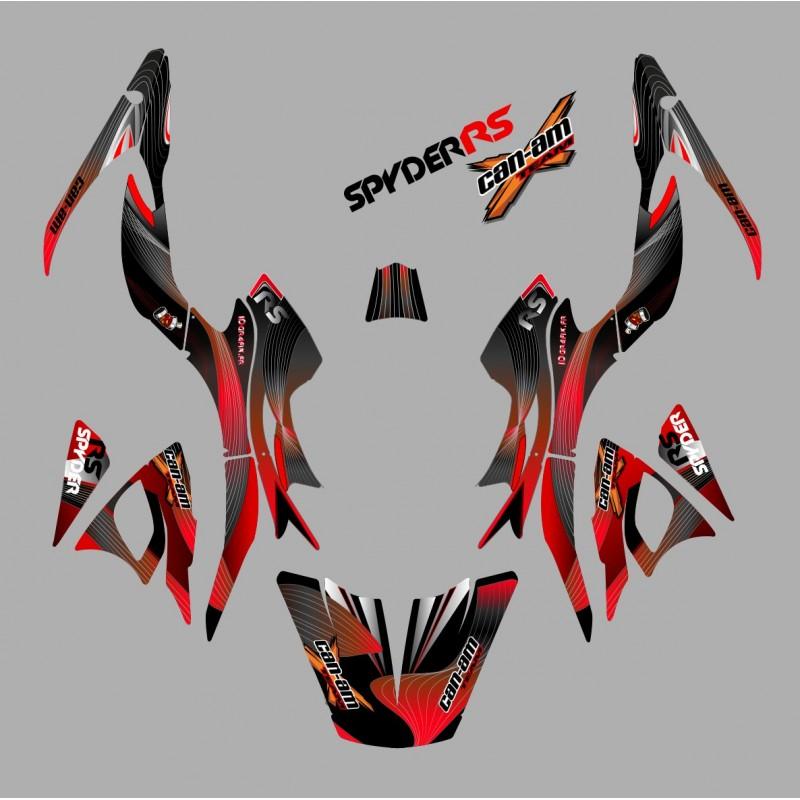 Kit de decoración de Revestimiento de color Rojo - IDgrafix - Can Am Spyder RS