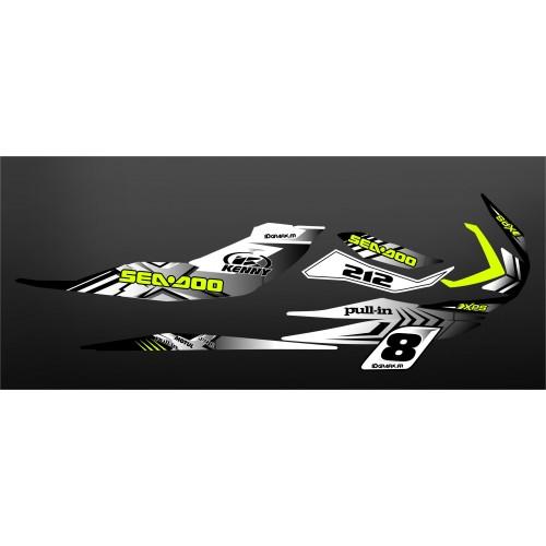 Kit de decoración 100% de Blancos Personalizado para Seadoo RXP-X 260 / 300 -idgrafix