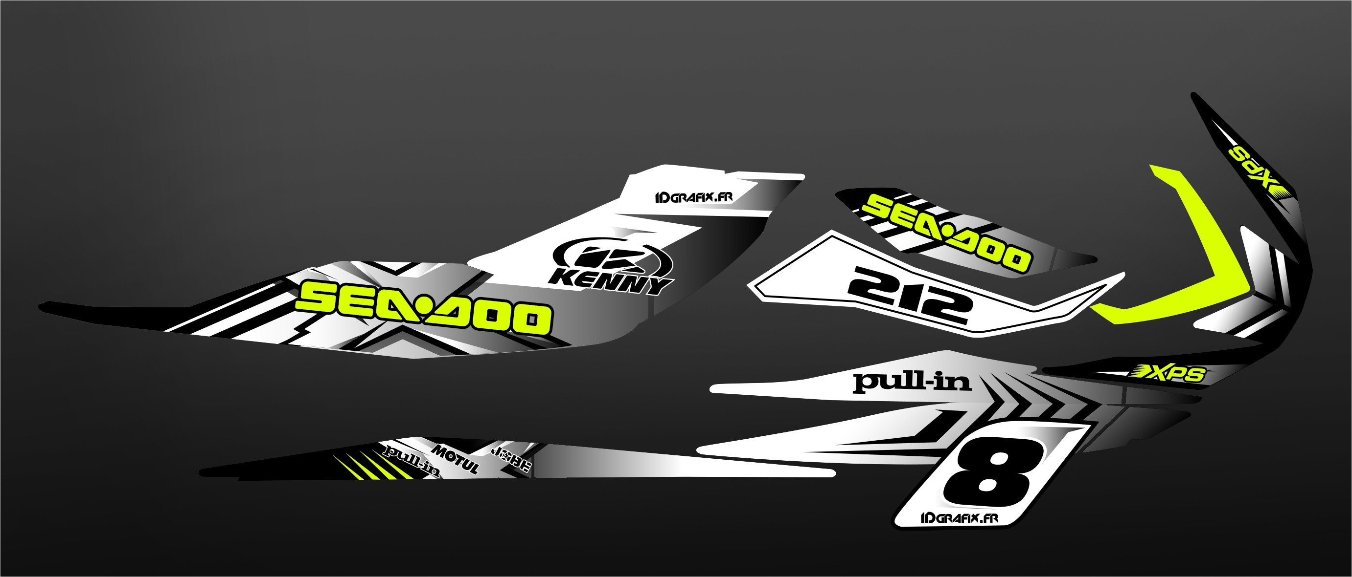 Kit Decoration Custom White For Seadoo Rxp X Idgrafix in addition Yamaha Raptor additionally S L in addition Rob Lind X furthermore Maverick Sport Dps Can Am Red Desert. on can am ds 250 x