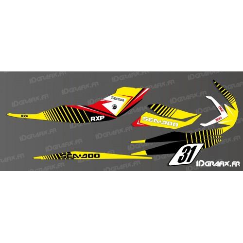 foto del kit, Kit de decoración de la decoración de la Carrera De 2016 (Blanco) para la Seadoo RXP-X 260 / 300
