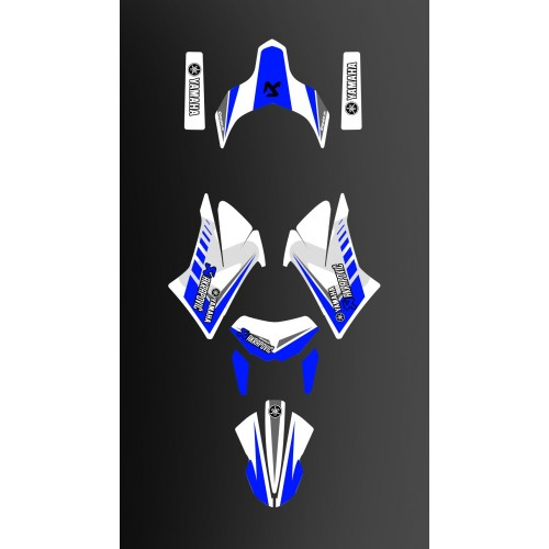 Kit déco Racing Bleu/blanc pour Yamaha 660 XT (après 2007)-idgrafix