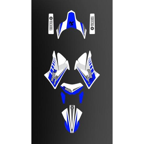 Kit déco Racing Bleu/blanc pour Yamaha 660 XT -idgrafix