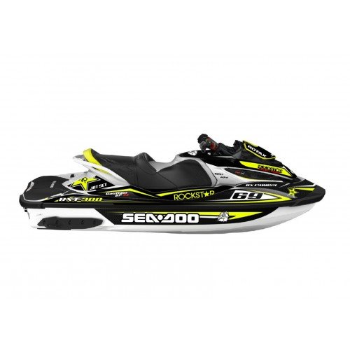 Kit decoration Rockstar energy Yellow for Seadoo RXT 260 / 300 (S3 hull) - IDgrafix