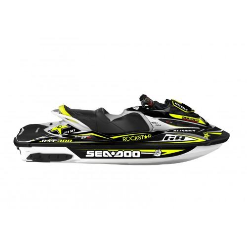 Kit dekor Rockstar Gelb für Seadoo RXT 260 / 300 (S3-rumpf)