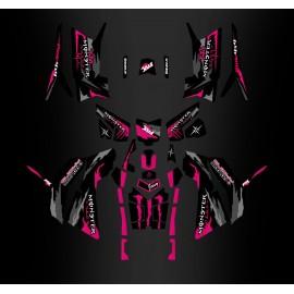 Kit décoration Monster Rose Edition (Full) - IDgrafix - Polaris 850/1000 Scrambler