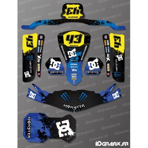 - Deko-Kit 100% - Def Monster Blue für Kartsport KG EVO -idgrafix