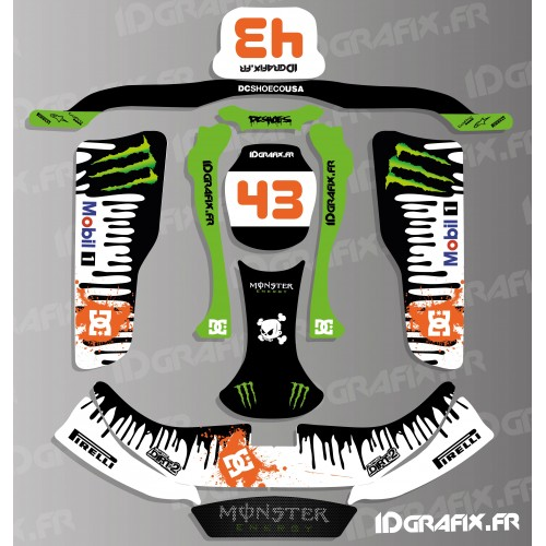 Kit deco 100% Personalizado Bloque Original de la serie para Kart KG EVO -idgrafix