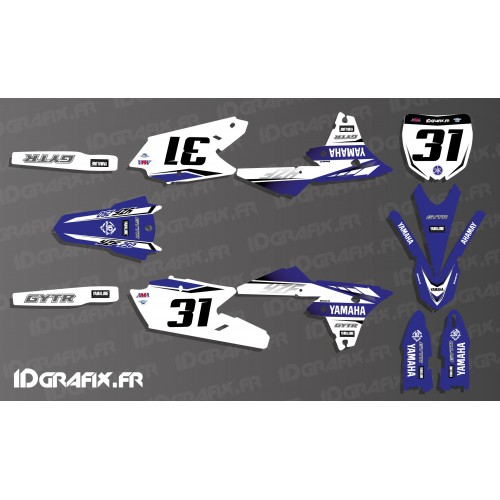 photo du kit décoration - Kit décoration Yamaha Factory 2017 Réplica - Yamaha YZ/YZF 125-250-450