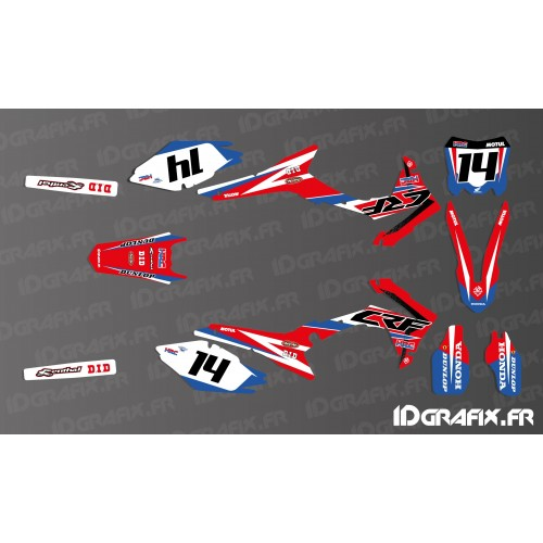 Kit décoration Honda Factory Réplica 2017 - Honda CR/CRF 125-250-450 -idgrafix