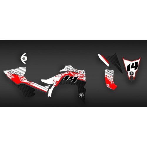 photo du kit décoration - Kit décoration Blade series Rouge - IDgrafix - Yamaha YFZ 450 R