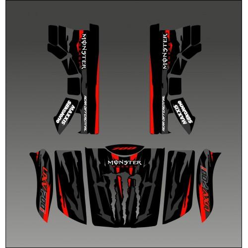 photo du kit décoration - Kit déco 100% Monster Red Edition - Idgrafix - Kymco UXV 700
