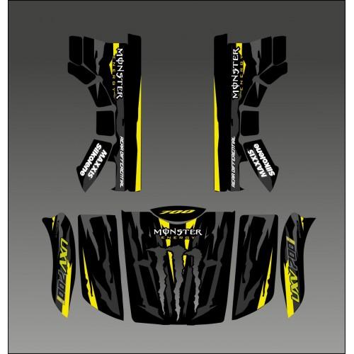 Kit-deco-100% Monster-Gelbe Edition - Idgrafix - Kymco UXV 500-700 -idgrafix