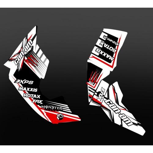 Kit de decoración 100% Personalizado Monstruo Rojo - IDgrafix - Can Am Renegade -idgrafix